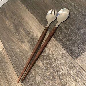 MCM salad serving spoons